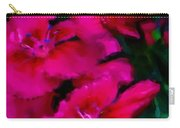 Red Floral Study Carry-all Pouch by David Lane