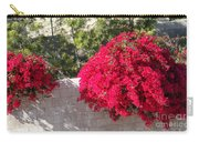 Red Flower Bushes Carry-all Pouch