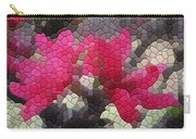 Red Flowered Peach Carry-all Pouch