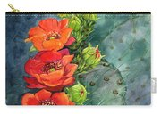 Red Flowering Prickly Pear Cactus Carry-all Pouch