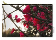 Red Flowers At Sunset Carry-all Pouch