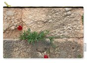 Red Flowers In Ruins Carry-all Pouch