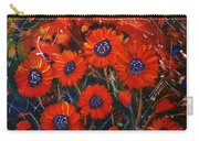 Red Flowers In The Night Carry-all Pouch