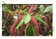 Red Fluffy Flower Carry-all Pouch