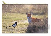 Red Fox And Magpie Carry-all Pouch