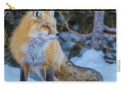 Red Fox At Dawn In Winter Carry-all Pouch