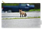 Red Fox Kit Standing On Old Road Carry-all Pouch