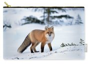 Red Fox Vulpes Vulpes Portrait Carry-all Pouch