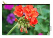Red Fresh Geraniums Carry-all Pouch