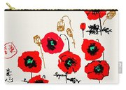 Red Garden Glow Carry-all Pouch
