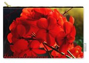 Red Geranium Anniversary Greeting Carry-all Pouch