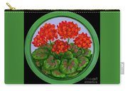 Red Geranium On Wood Carry-all Pouch