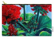 Red Geraniums Carry-all Pouch