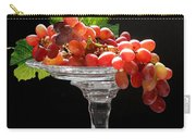 Red Grapes On Glass Dish Carry-all Pouch