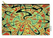 Red Green Yellow And Black Abstract Carry-all Pouch