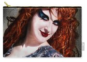 Red Hair, Gothic Mood. Model Sofia Metal Queen Carry-all Pouch