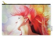 Red Hair With Bubbles Carry-all Pouch