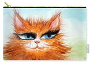 Red-haired Sofia The Cat Carry-all Pouch