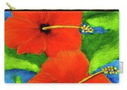 Red Hawaii Hibiscus Flower #267 Carry-all Pouch