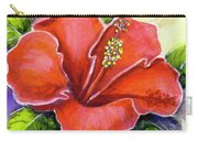 Red Hawaii Hibiscus Flower #301 Carry-all Pouch