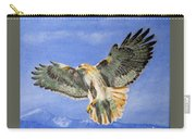 Red Hawk, 11x14, Oil, '07 Carry-all Pouch