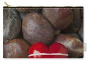 Red Heart Among Stones Carry-all Pouch