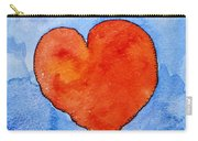Red Heart On Blue Carry-all Pouch
