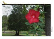 Red Hibiscus Highlights A Scene On The River Carry-all Pouch