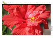 Red Hibiscus Square Carry-all Pouch