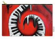 Red Hot - Swirling Piano Keys - Music In Motion Carry-all Pouch