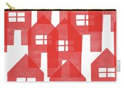 Red Houses- Art By Linda Woods Carry-all Pouch