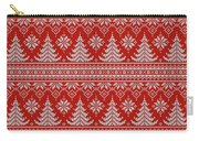 Red Knitted Winter Sweater Carry-all Pouch