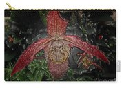 Red Lady Slipper Carry-all Pouch