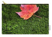 Red Leaf Green Moss Carry-all Pouch