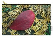 Red Leaf On  Arborvitae Leaves Carry-all Pouch