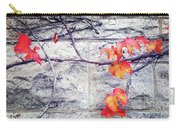 Red Leaves Growing By The Wall. Autumn Carry-all Pouch