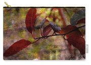 Red Leaves Painted Effect Carry-all Pouch