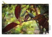 Red Leaves With Texture Carry-all Pouch