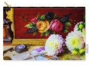 Red Letter Box And Dahlias Carry-all Pouch