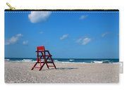 Red Life Guard Chair Carry-all Pouch