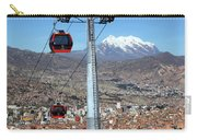 Red Line Cable Cars And Mt Illimani La Paz Bolivia Carry-all Pouch