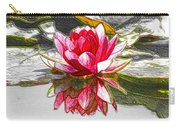 Red Lotus Flower Carry-all Pouch
