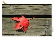 Red Maple Leaf On A Boardwalk  Carry-all Pouch