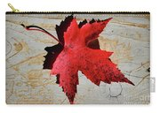 Red Maple Leaf With Burnt Edge Carry-all Pouch