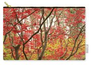 Red Maple Leaves And Branches Carry-all Pouch