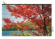 Red Maple On Lake Shore Carry-all Pouch