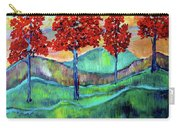 Red Maples On Green Hills With Name And Title Carry-all Pouch