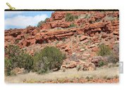 Red Mesa And Yellow Flowers Carry-all Pouch