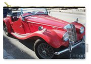 Red Mg Antique Car Carry-all Pouch