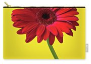 Red Mum Against Yellow Background Carry-all Pouch